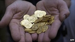 GOLD COIN HOARD FOUND IN FRENCH CELLAR