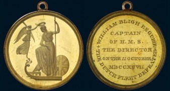 CAPTAIN BLIGH'S MEDALS TO BE SOLD