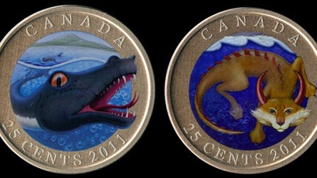 CANADA INTRODUCES QUARTERS COMMEMORATING THINGS THAT DON'T EXIST