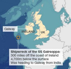 SS GAIRSOPPA SHIPWRECK DISCOVERED BY ODYSSEY MARINE