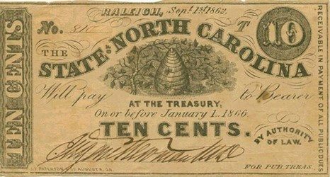QUERY: HELP DECIPHER NORTH CAROLINA STATE TREASURY NOTE SIGNATURE