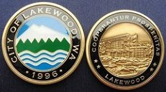 CITY OF LAKEWOOD CHALLENGE COIN