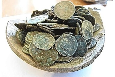 COINS OF SIXTEEN DIFFERENT EMPERORS FOUND IN HOARD