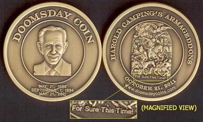 DOOMSDAY COIN: COMMEMORATING THE END OF THE WORLD (SORT OF)