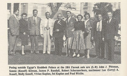 AMERICAN FAROUK AUCTION ATTENDEES