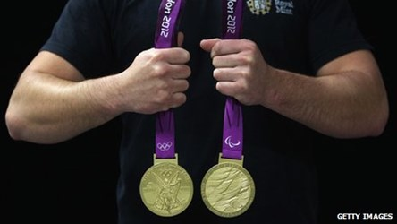 THE 2012 LONDON OLYMPICS MEDALS