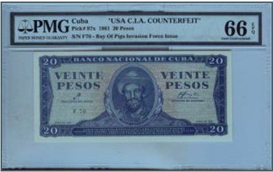 THE CIA BAY OF PIGS COUNTERFEITS