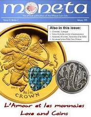 OTTAWA NUMISMATIC SOCIETY MONETA PUBLICATION IS NOW FREE
