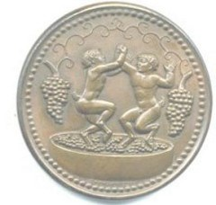 PAUL MANSHIP'S 1930 HAIL TO DIONYSUS MEDAL