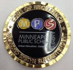 MINNEAPOLIS PUBLIC SCHOOL CHALLENGE COINS