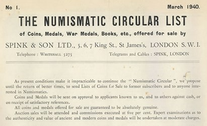 FEATURED WEB PAGE: NUMISMATIC CIRCULAR DURING WWII