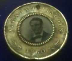 1860 LINCOLN CAMPAIGN BUTTON FOUND IN MINNESOTA