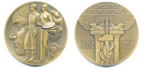 1937 INTERNATIONAL EXHIBITION OF ARTS AND TECHNOLOGY MEDAL