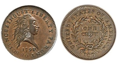 1792 SILVER CENTER CENT SELLS FOR $1.15 MILLION