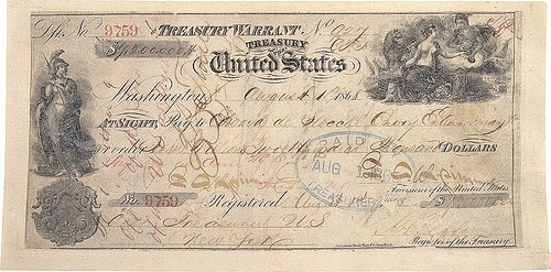 AN ALASKA PURCHASE TREASURY WARRANT