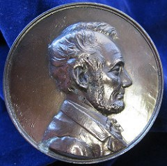 QUERY: LINCOLN MEDAL ORIGIN SOUGHT