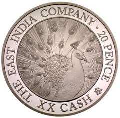 A REVIVED EAST INDIA COMPANY STRIKES COINS