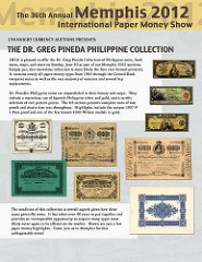 PINEDA COLLECTION OF PHILIPPINE COINS AND PAPER MONEY