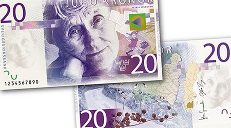 2015 SWEDISH BANKNOTE DESIGNS SELECTED