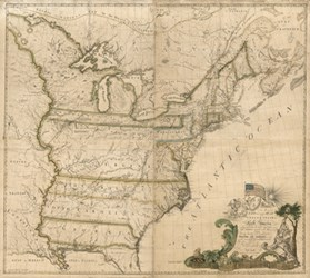 ABEL BUELL'S 1784 MAP OF THE UNITED STATES