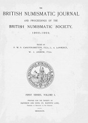 BRITISH NUMISMATIC JOURNAL AVAILABLE ONLINE