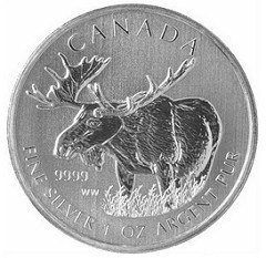 CANADIAN MOOSE MONEY AND CARIBOU COINS