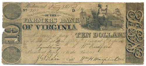QUIZ ANSWER: WHICH FARMER'S BANK OF VIRGINIA NOTE IS COUNTERFEIT?