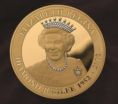EAST INDIA COMPANY SELLING DIAMOND-ENCRUSTED COINS FOR QUEEN'S JUBILEE
