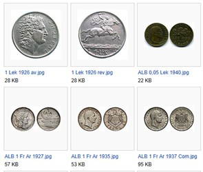 FEATURED WEB PAGE: COINS OF ALBANIA