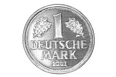 GERMANS HANG ON TO THE OLD DEUTSCHE MARKS