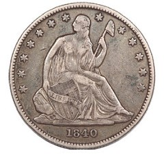 QUERY: AN ENGRAVED 1840-O HALF DOLLAR