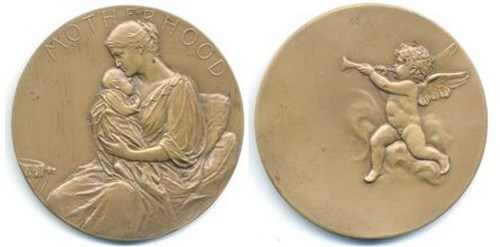VICTOR DAVID BRENNER'S MOTHERHOOD MEDAL