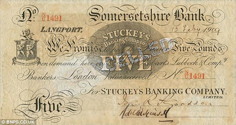 KIRCH COLLECTION OF BRITISH BANK NOTES TO BE SOLD