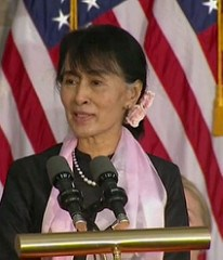 AUNG SAN SUU KYI COLLECTS 2008 CONGRESSIONAL GOLD MEDAL