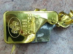 TUNGSTEN-FILLED GOLD BARS