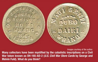 AN INTRIGUING U.S. CIVIL WAR TOKEN: OH-165-AD-2