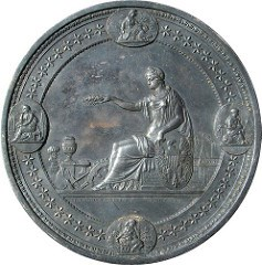 QUERY: HOW WAS THIS CENTENNIAL EXHIBITION AWARD MEDAL MADE?