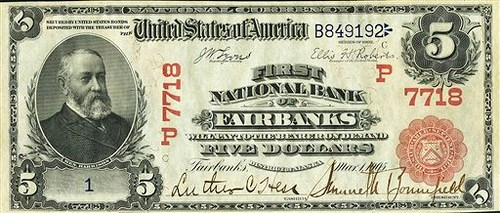 ALASKA NATIONAL BANK NOTE MAKES HEADLINES