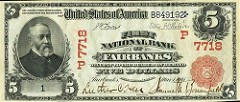 FAIRBANKS NATIONAL BANK NOTE SELLS