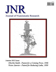 NEW PERIODICAL: JOURNAL OF NUMISMATIC RESEARCH