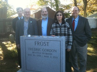 MONUMENT UNVEILING FOR F. GORDON FROST
