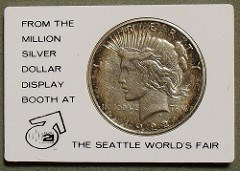 1962 SEATTLE WORLD'S FAIR NUMISMATIC SOUVENIRS