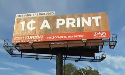120,000 PENNIES ON A FLORIDA BILLBOARD