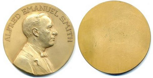 QUERY: AL SMITH PORTRAIT MEDAL INFORMATION SOUGHT