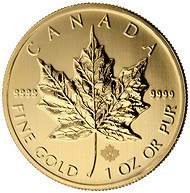 CANADIAN GOLD MAPLE LEAF MICRO-ENGRAVED SECURITY FEATURE