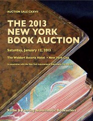 KOLBE-FANNING LITERATURE SALE #127 CLOSES JANUARY 12, 2013
