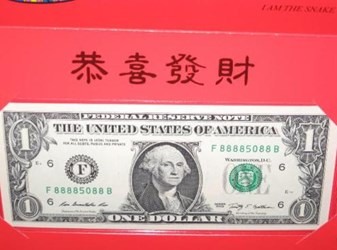 LUCKY 8888 SERIAL NUMBER DOLLARS POPULAR IN VIET NAM