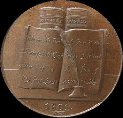 COINS, TOKENS AND MEDALS WITH IMAGES OF BOOKS