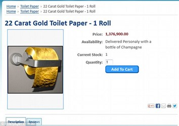 TOILET PAPER MADE OF GOLD. REALLY