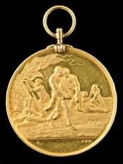1881 NETHERLANDS GOLD LIFESAVING MEDAL